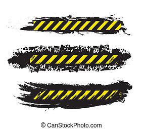caution design over white background vector illustration
