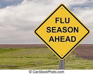 Caution Sign - Flu Season Ahead