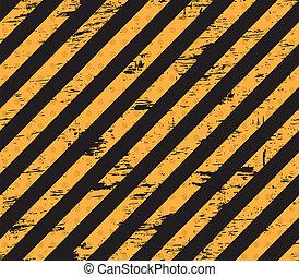 Caution grunge line