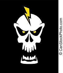 Caution high voltage skull sign