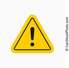 Caution icon / sign in flat style isolated. Warning symbol for your web site, logo, app, UI design. Vector illustration