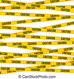 Caution Line - Vector background of caution yellow warning...