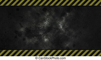 Caution Lines Background - dark grungy industrial background...