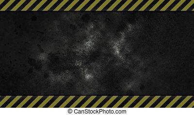 Caution Lines Background - dark grungy industrial background...
