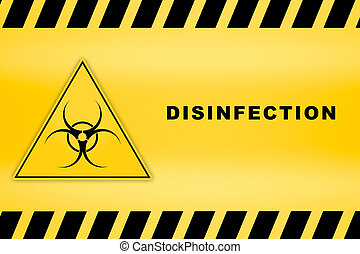 caution lines sign of biological disinfection worn hazard stripes warning tapes danger signs