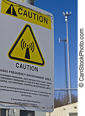 Caution - Radio Frequency Area