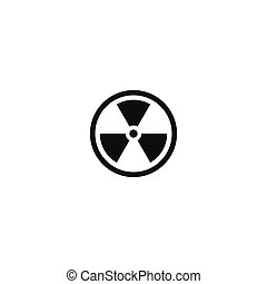 Caution radioactive material isolated symbol