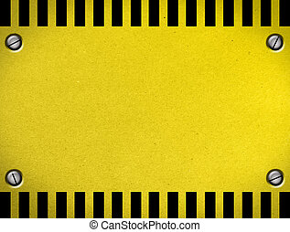 Caution Sheet of colors yellow and black. Illustration