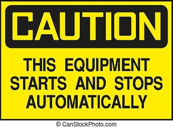 Caution Sign, symbol, vector illustration