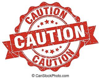 caution stamp