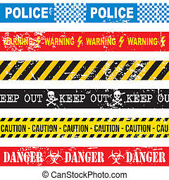 caution tape over white background vector illustration