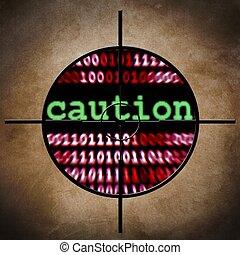 Caution target