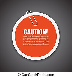 Caution text sticker