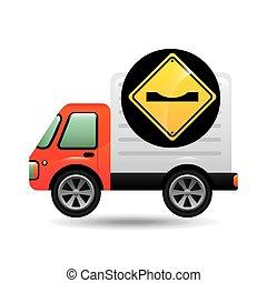 caution traffic sign concept