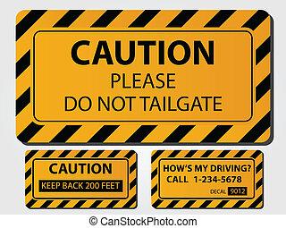 Caution Trick Signs