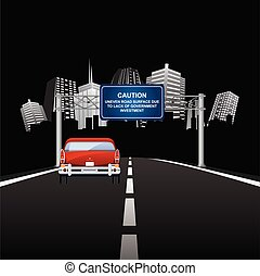 Caution uneven road surface due to lack of government ...