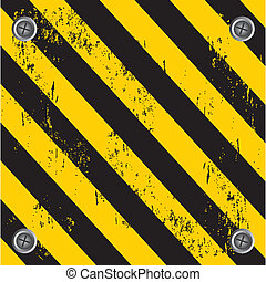 caution wall over black and yellow background vector...