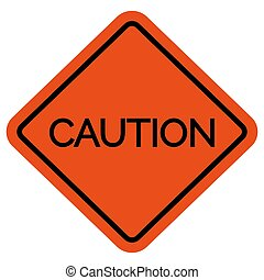 Caution warning sign without picture vector illustration. ...