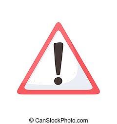 caution warning symbol isolated style