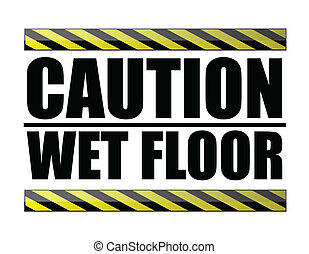 Caution wet floor. vector file available