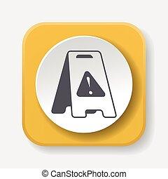 caution wet floor icon
