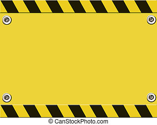 Cauttion - Yellow and black illustration. design with space ...
