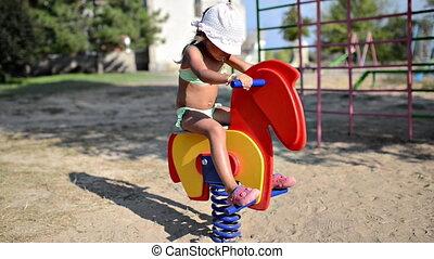 cavalcade, cheval jouet, enfant