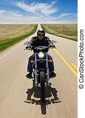 cavalcade, motocyclette