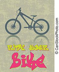 cavalcade, vélo, ton