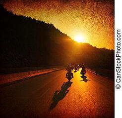 cavalcata, motocicletta