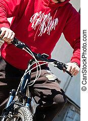 cavaleiro bicicleta