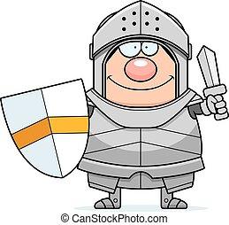 cavaleiro, caricatura, espada