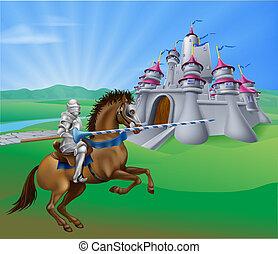 cavaleiro, castelo