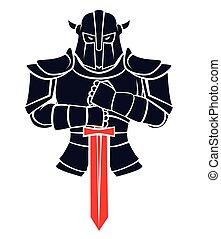 cavaleiro, guerreira