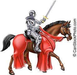 cavaleiro, horseback
