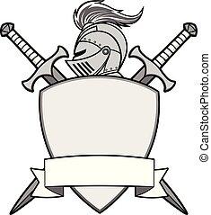 cavaleiro, ilustração, emblema