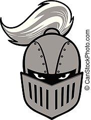 cavaleiro, mascote, ilustração