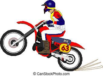 cavaleiro motocicleta