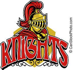 cavaleiros, desenho, escudo