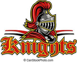 cavaleiros, desenho, mascote