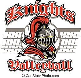 cavaleiros, desenho, voleibol