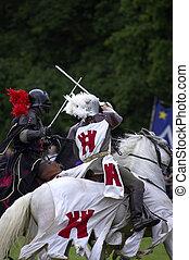 cavaleiros, jousting