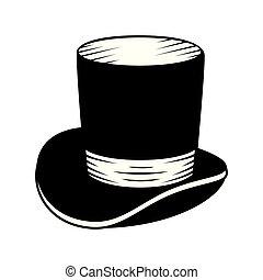 cavalheiro, chapéu superior, ícone