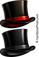 cavalheiro, chapéu superior