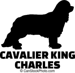 Cavalier King Charles silhouette with name