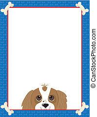 Cavalier King Charles Spaniel - A frame or border featuring...