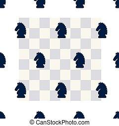 cavaliere, &, asse, scacchi, modello