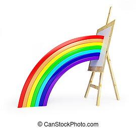 cavalletto, arcobaleno