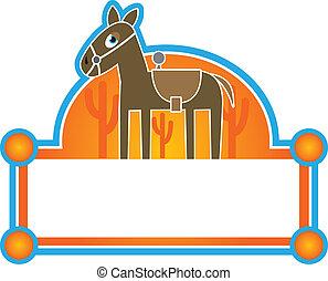 cavallo, etichetta