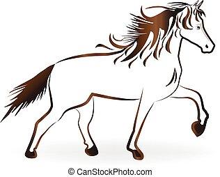 cavallo marrone, logotipo